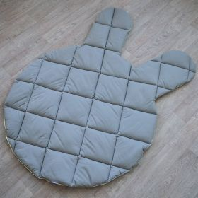soft baby play mat with two sides and in shape of a bunny