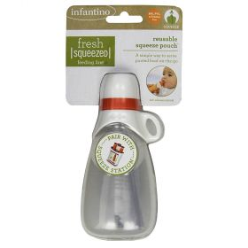 Fresh squeezed reusable squeeze pouch