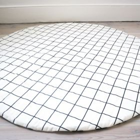 Grid print double side play mat