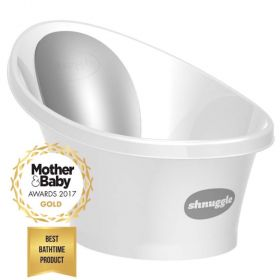 Bath with bum bump - white
