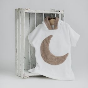 Little moon hooded bathrobe
