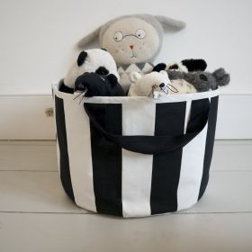 Small striped storage bag