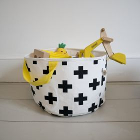 Small cross print storage bag