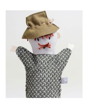 Wood cutter hand puppet