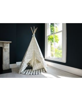 Tipi à motif quadrillage