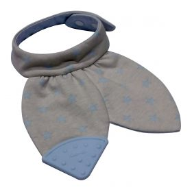 Bib Teether - Grey & Blue star