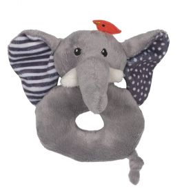 Rattle toy - Grey Elephant