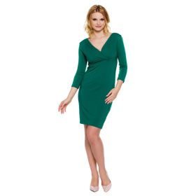 Green maternity dress