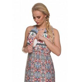 Maxi Maternity Dress - Flower print