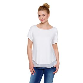 Elegant white breastfeeding top