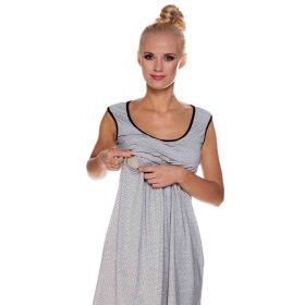 Grey & Black maternity nightgown