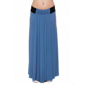 Blue Maternity maxi skirt