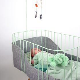 Tall Baby crib - Mint