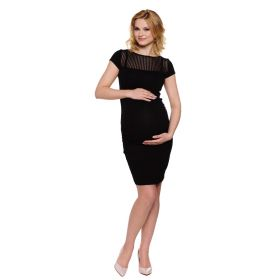 Smart black maternity dress