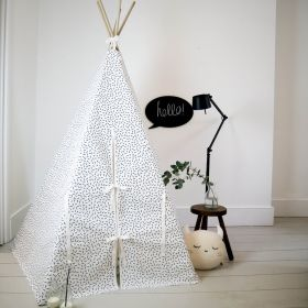 Dash print teepee with white trim