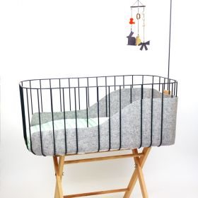 Tall Baby crib - Grey