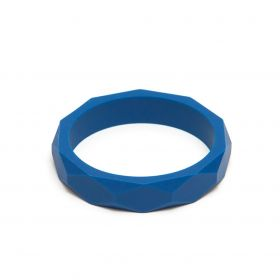 Denim teething bangle