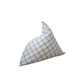 Grid pattern bean bag by wildfire teepees with white background