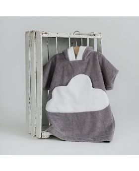 Little cloud hooded bathrobe