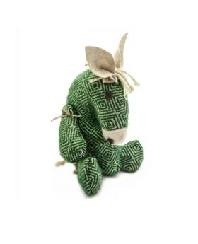 cute green donkey soft toy