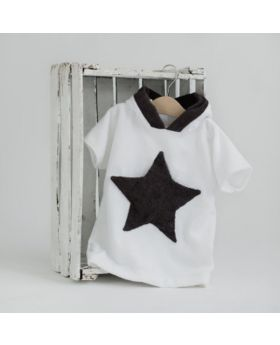 Little star hooded bathrobe